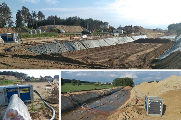 DEWATERING OF RESERVOIR CONSTRUCTION SITE